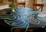family craft idea: hand painted table cloth