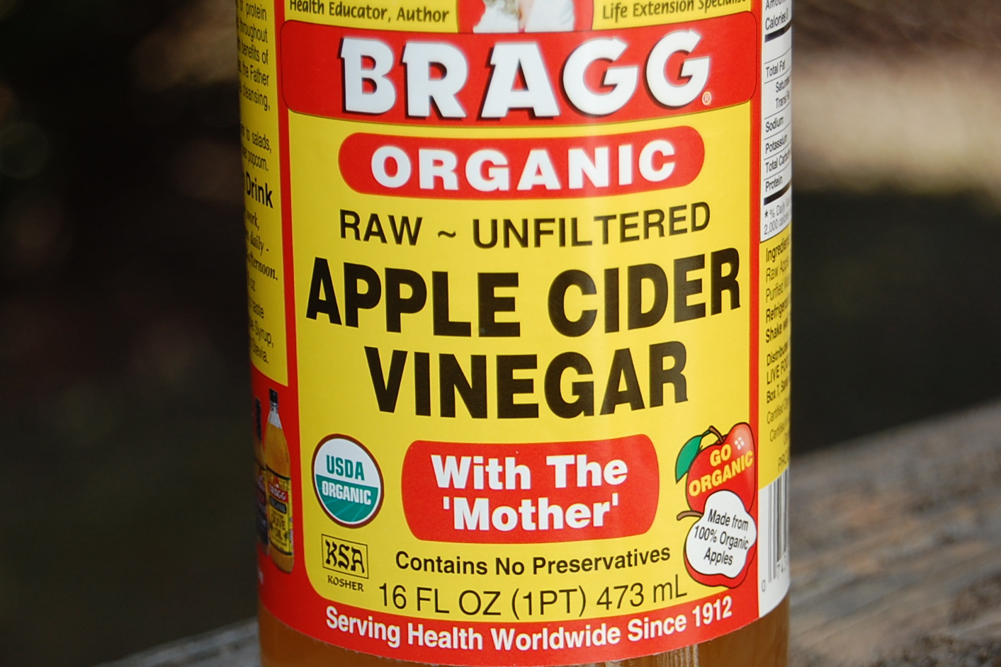 Apple cider vinegar with mother cures
